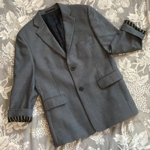 J. Abboud Striped Cuff Multi Color Dress Blazer